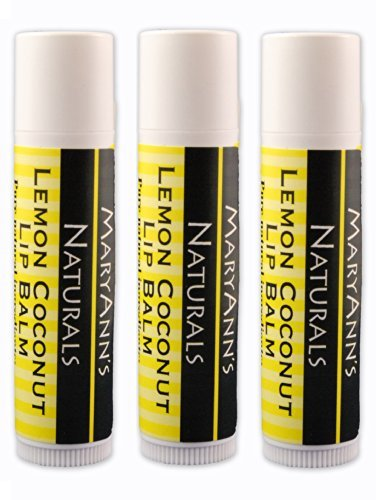 Mary Ann's Naturals Organic Handcrafted Lip Balm 3 Pack - Lemon Coconut by Mary Ann's Naturals