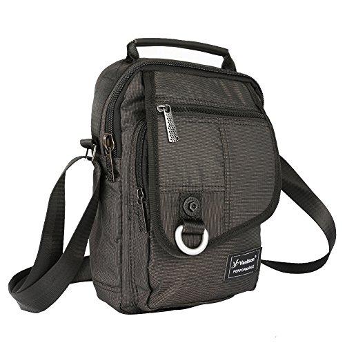 Vertical Messenger Bag, Crossbody Bag, Vanlison Shoulder Bag Work Satchel for iPad Tablet Kindle (Vertical Mens Bag)