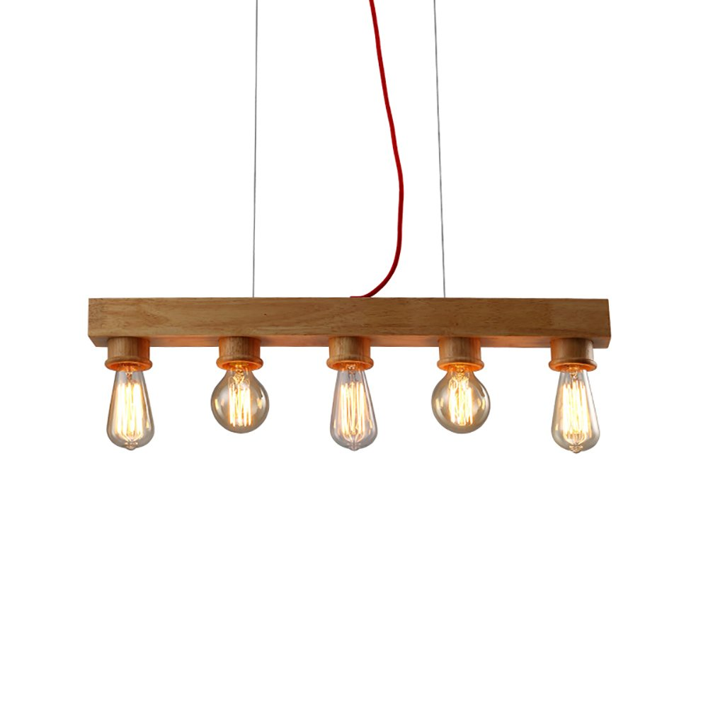 OOFAY Personality Restaurant Chandelier Bar Counter Cafe Modern Simple Solid Wood Light Fixture