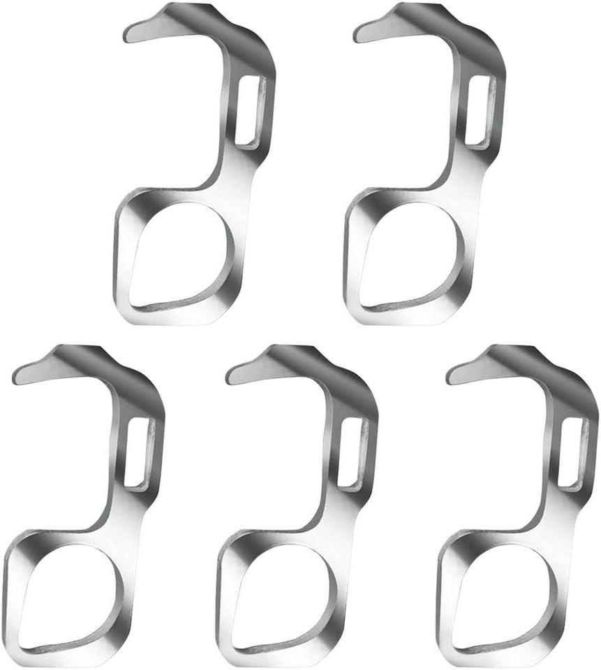 Samsund - Gancho para abrir puertas, higiénico, portátil, higiene, para la protección de las manos, para el ascensor, para llaves, bolsa con gancho, herramienta abridor de puerta sin contacto