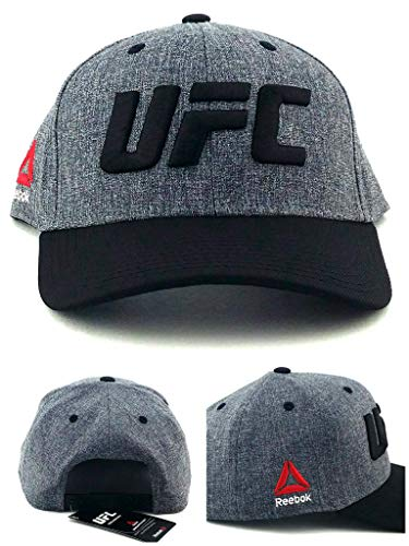 Reebok UFC RBK MMA Heather Logo Black Gray Adjustable for sale  Delivered anywhere in USA