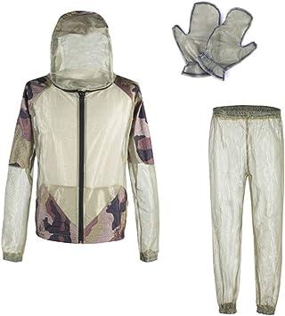 Yundxi Chaqueta Anti-Mosquito Ropa de Mosquito para Exteriores para Excursionismo Aventura Pesca para Acampar al Aire Libre