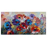 Yosemite Home Decor ARTAB2292 Flower Garden Floral Abstract Painting