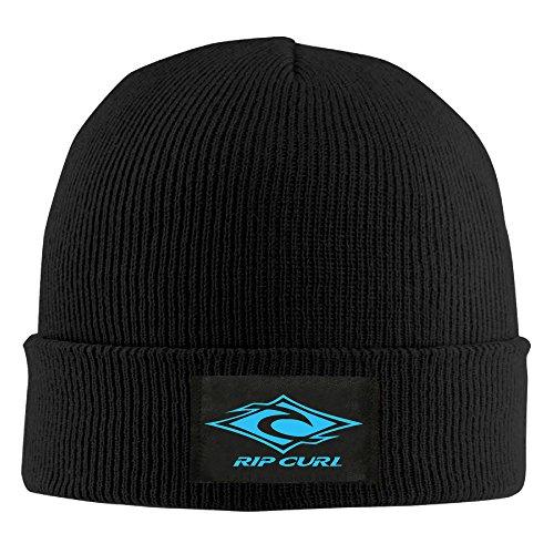 Unisex Beanie Hat-Rip Curl Logo Black ()