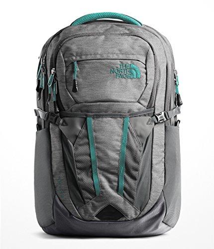 North Green Face (The North Face Women's Recon Backpack - Zinc Grey Light Heather & Kokomo Green - OS)