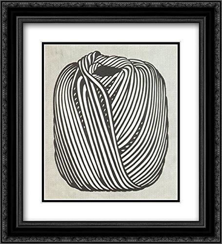 Ball of Twine, 1963 2X Matted 18x15 Black Ornate Framed Art Print by Roy Lichtenstein