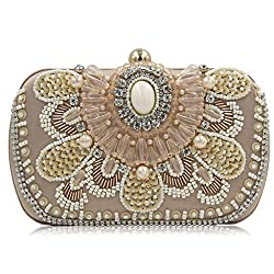 Ladies Retro High-End Beaded Clutch