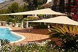 Didaoffle 20'x20'x20' Triangle Pool Shade, Backyard Sun Shade Sail in...
