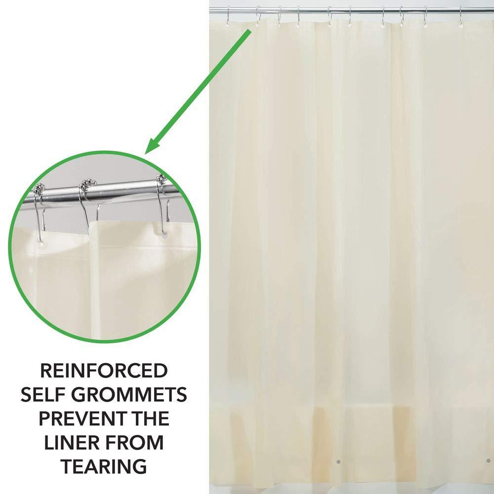Beige Tenda per Vasca da Bagno con 12 Occhielli rinforzati Tende per Doccia con Dimensioni universali mDesign Set da 2 Tende Bagno Impermeabili in PEVA