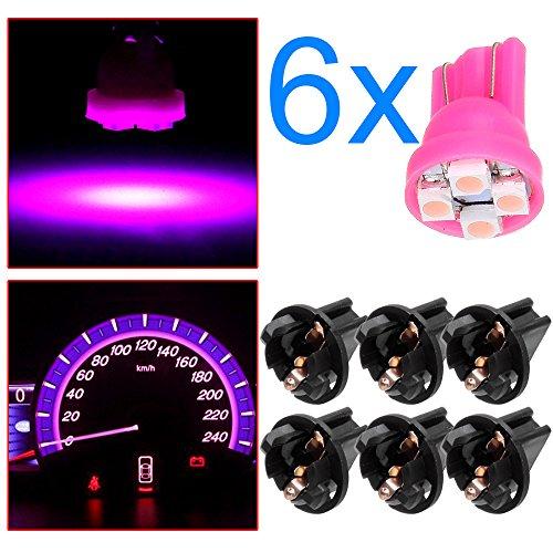 OCPTY 6Pack Purple T10 194 LED Light Bulb LED Bulbs Bright Instrument Panel Gauge Cluster Dashboard LED Light Bulbs Instrument Panel Gauges Light with 6Pcs ()