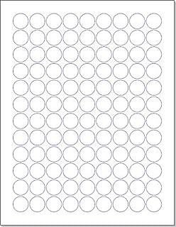 Amazon Com Chromalabel 3 4 Inch Round Labels For Laser Inkjet