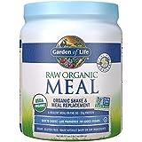 Garten of Life Meal Replacement - Organic Raw Plant Based Protein Powder, Vanilla, Vegan, Gluten-Free, 17.1 oz (484g) Powder