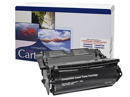 Remanufactured Toner Cartridge Replacement for LEXMARK T520- T522- X520- X522 - HY SERIES