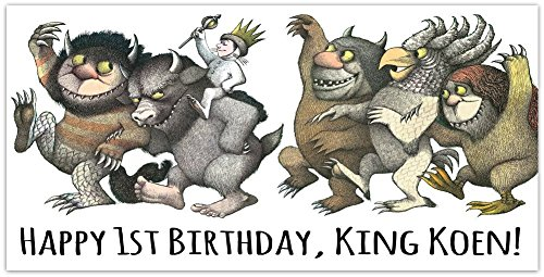 Where the Wild Things Are Birthday Banner Custom Party Decoration