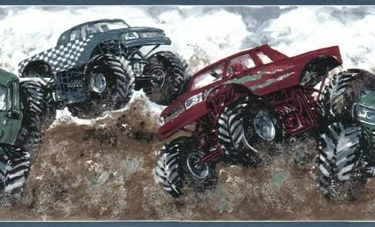 Monster Truck Wallpaper Border By Rolling Borders Amazon Com