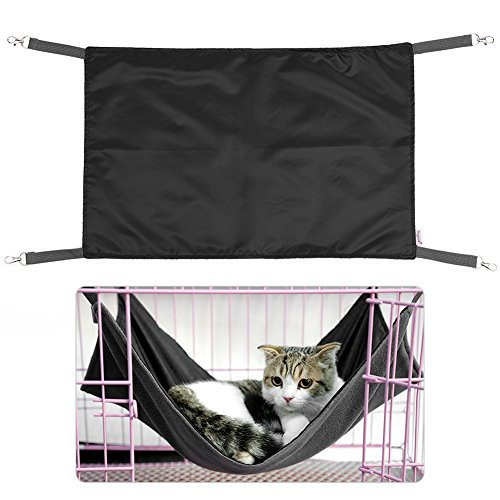 Petacc Warm Cat Hammock Bed Comfortable Pet Sleeping Sack Waterproof Pet Lounge, Suitable for Small-sized Dogs and Cats