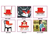 Honey Bee 5 in 1 Baby Swing cum Baby Chair cum Baby Car Seat,Baby Buster Sheet-Red