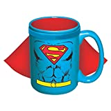 ICUP DC Superman Character Caped Ceramic Mug, 15 oz, Clear