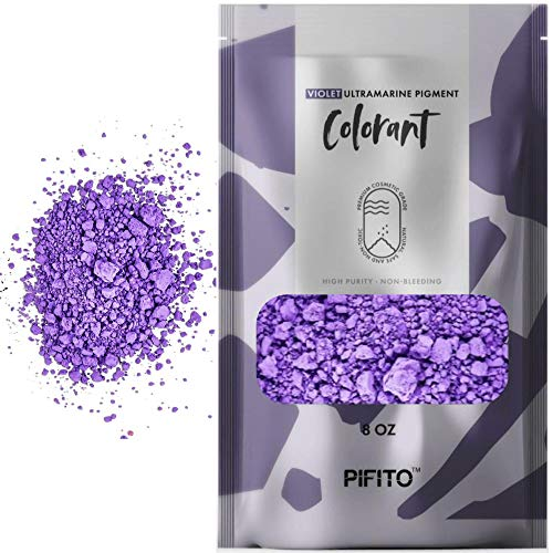 Pifito Violet Ultramarine Pigment Colorants (8 oz) - Cosmetic Grade Bulk Purple Coloring Powder Kit for Soap Making Supplies, Bath Bombs, Slime