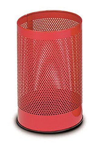 stilcasa Gettacarta Pattumiera rosso forato in Ferro - Dim. 24x24xh40 Stil Casa