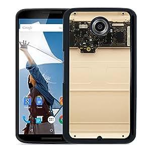 New Custom Designed Cover Case For Google Nexus 6 With Ak Inside Apple Mackbook Gold Art Phone Case