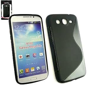 Emartbuy® Samsung Galaxy Mega 5.8 I9150 Del Patrón De Onda Del Gel De La Piel Cubierta De Negro