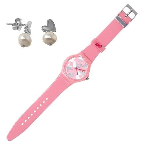 Juego Agatha Ruiz de la Prada reloj AGR218P pendientes plata [AB7256] - Modelo: AGR218P: Amazon.es: Joyería