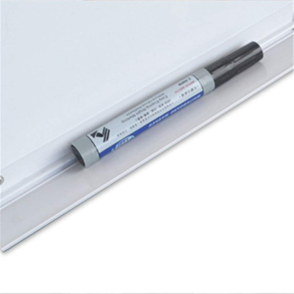Marco de Aluminio Plateado Esquina de pl/ástico ABS LJPzhp-Office Pizarra magn/ética de borrado en seco Color : Blanco, tama/ño : 80x100cm