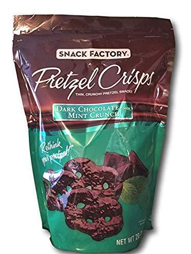 (Snack Factory Pretzel Crisps Dark Chocolate Mint Crunch Family Size 2 Pack x#yBhs(20 0z. Each))