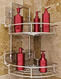Vdomus Strong Shower Caddy 2 Tier Bathroom Corner Shelf Organizer...