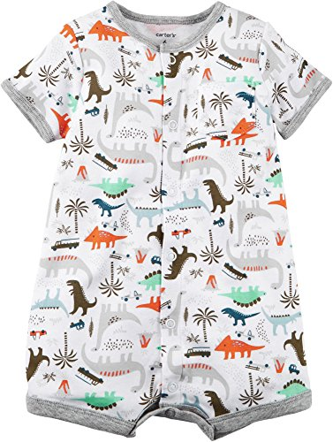 Carter's Baby Boys' Dino Print Snap Up Romper 18 Months