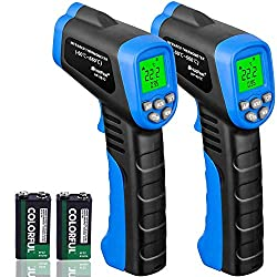 Holdpeak 981c Non Contact Digital Laser Infrared Thermometer Temperature Gun Instant Read 58 To 1022℉ 50 To 550℃ With 9v Battery And Emissivity 0 1 1 0 Adjustable 2 Pack