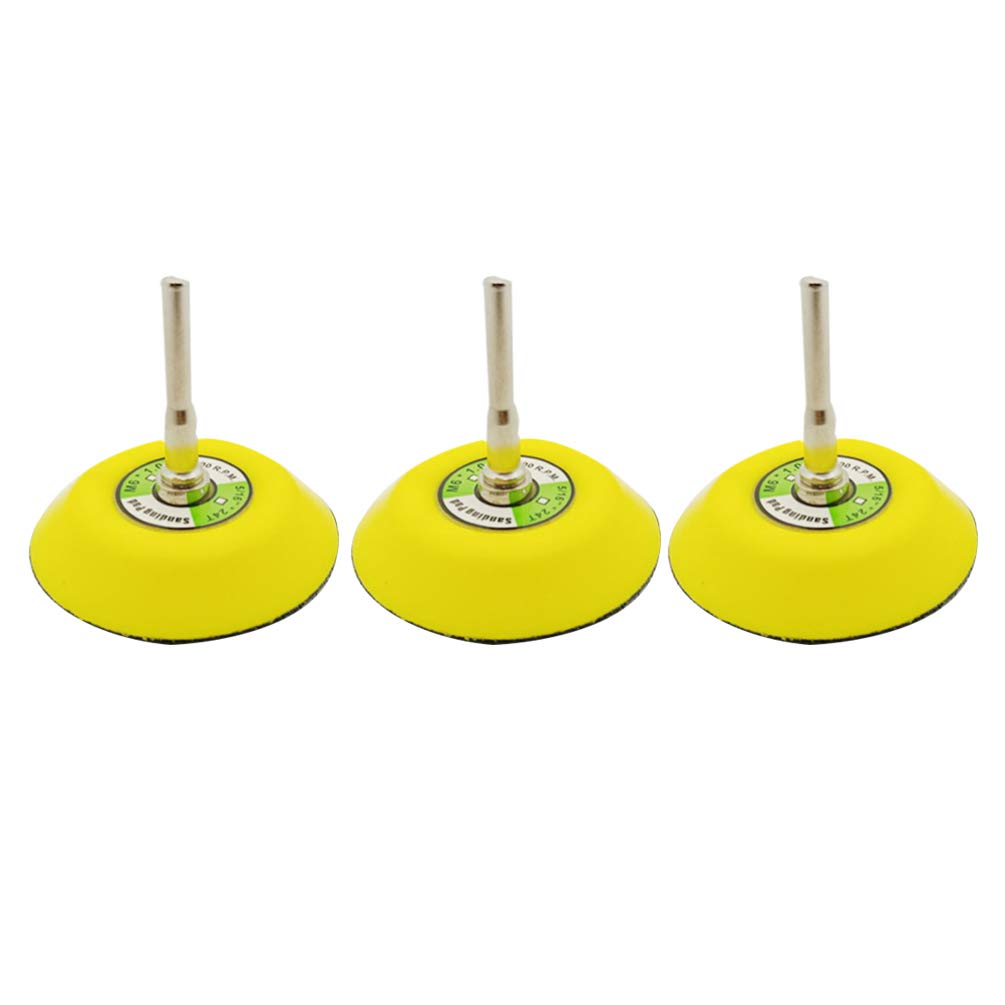 Hook and Loop Sanding Pad Rotary Backing Pad for Sanding Discs with 6mm Mandrel Drill Attachment DOITOOL 3PCS 1 Inch 25mm