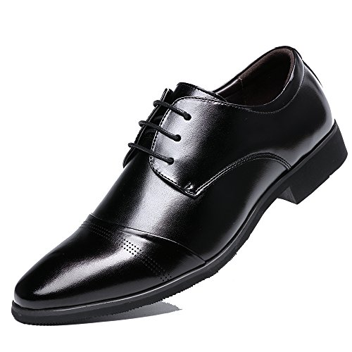 8015 Dark Up Oxford Patent Black Formal Wedding Dress Shoes OUOUVALLEY Lace Leather Shoes v1qwPaC