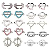 UBOOMS 10 Pair Nipple rings Different Shape Nickel free Body Piercing Jewelry Surgical Steel by UBOOMS