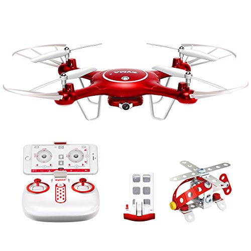 Syma-X5UW-Wifi-FPV-720P-HD-Camera-Quadcopter-Drone-with-Flight-Plan-Route-App-Control-and-Altitude-Hold-Function-Red