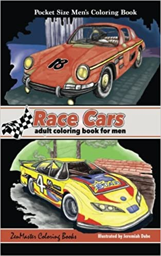Amazon.com: Pocket Size Men\'s Coloring Book: Race Cars Coloring Book ...
