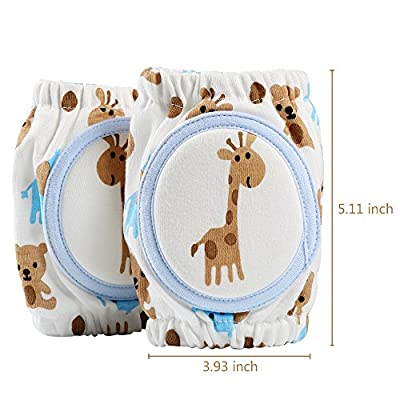 Baby Knee Pads, Tinabless Breathable Adjustable Elastic Unisex Infant Toddler Elbow Crawling Safety Protector, Indoor/Outdoor Use
