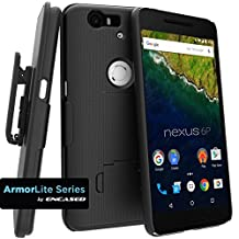 Encased Shell Combo Case with ClikLock Belt Clip Holster for Nexus 6P - Black