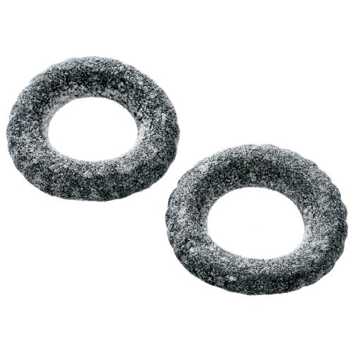Bubs Saltade Däck (2 x 200g) - Salted rings made of soft salty liquorice, without gelatin