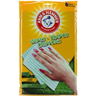 Arm & Hammer Reusable Wipes 6/Pkg-Green
