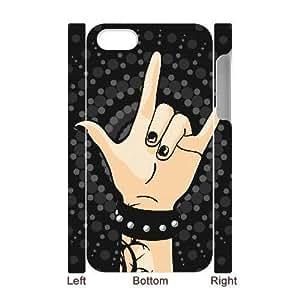 3D Bumper Plastic Case Of Rock & Roll customized case For Iphone 4/4s wangjiang maoyi