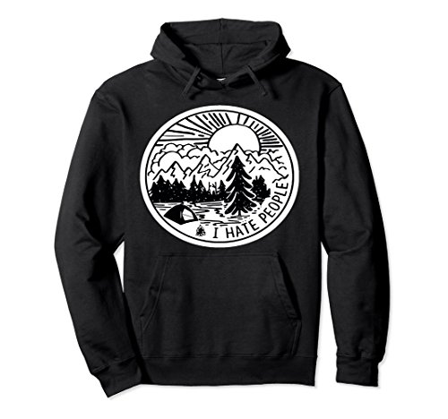 Unisex Camping I Hate People Hoodie Mountain Camping Lovers Gift 2XL - I People Hoodie Hate
