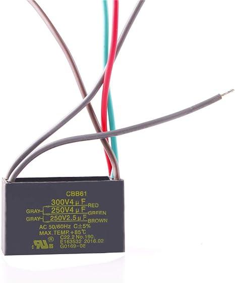 chuangneng 4uF + 4uF + 2.5uF 250 V/300 V CBB61 Start Run ...