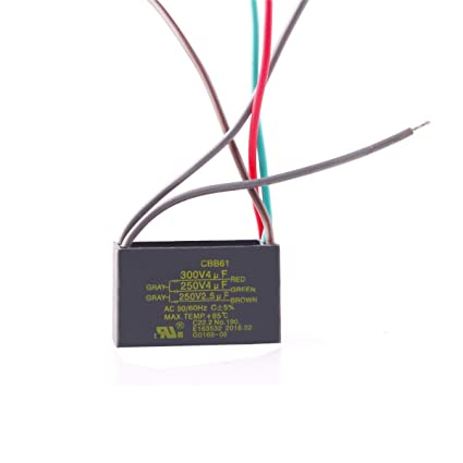 chuangneng 4uf 4uf 2 5uf 250v 300v cbb61 start run ceiling fan capacitor 5 wire us stock Power Capacitor Wiring