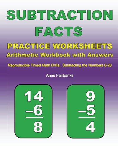 Time Worksheets 2nd grade telling time worksheets : Subtraction Facts Practice Worksheets Arithmetic Workbook with ...