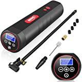 Oasser Air Compressor Portable Mini Air Inflator Hand Held Tire Pump 2000mAh with Digital LCD LED Light 12V AC DC Lithium Battery 120PSI 20Litres/Min for Car Bicycle Tires and Other Inflatables P1S