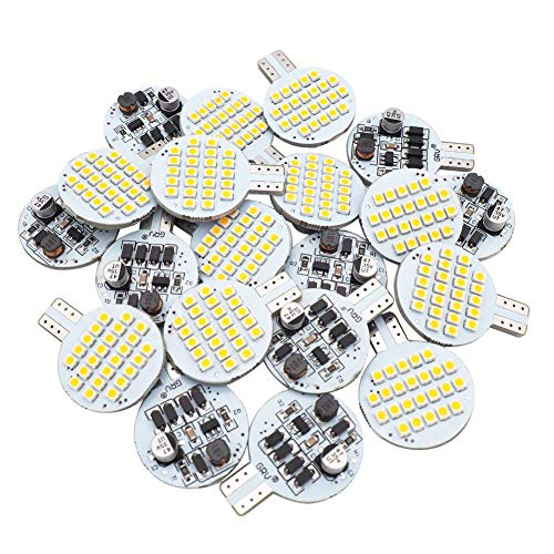 20x Grv T10 LED Light Bulb 921 194 192 C921 24-3528 SMD Super Bright Lamp AC/DC 12V-24V 2.5 Watt Warm White (2nd ()