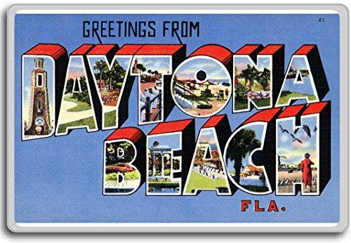 Magnet Postcard - Greetings From Daytona Beach, Florida - Vintage 1940s Postcard fridge magnet