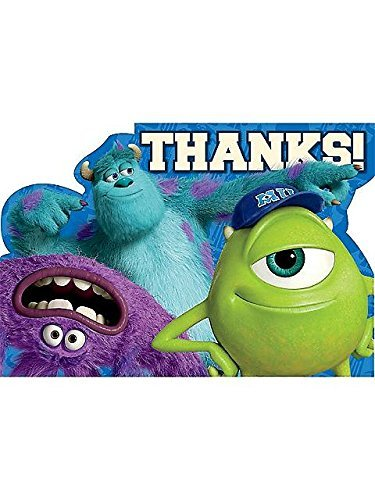 (amscan Monsters University Inc. Thank You Postcards w/ Envelopes)